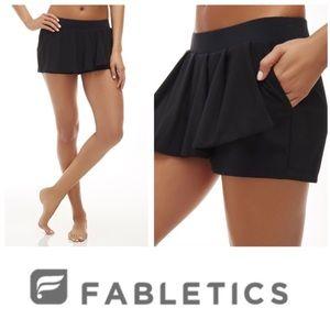 Fabletics Black Cognac Skort Shorts